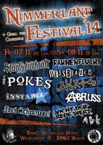 2014 Nimmerland festival poster