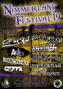 2019 Nimmerland festival poster
