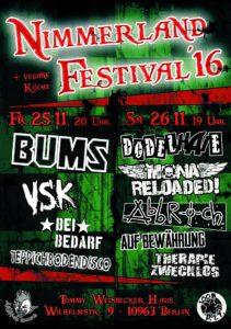 2016 Nimmerland festival poster