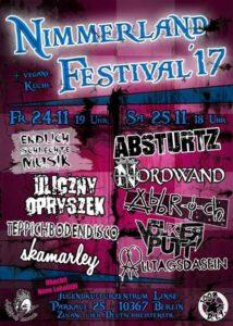 2017 Nimmerland festival poster