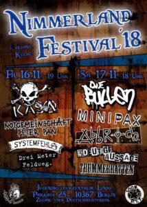 2018 Nimmerland festival poster